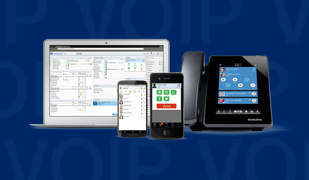sangoma-devices-and-technology-floating-on-background-of-VOIP-text