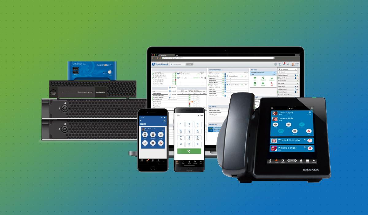 sangoma-phone-system-on-gradient-background
