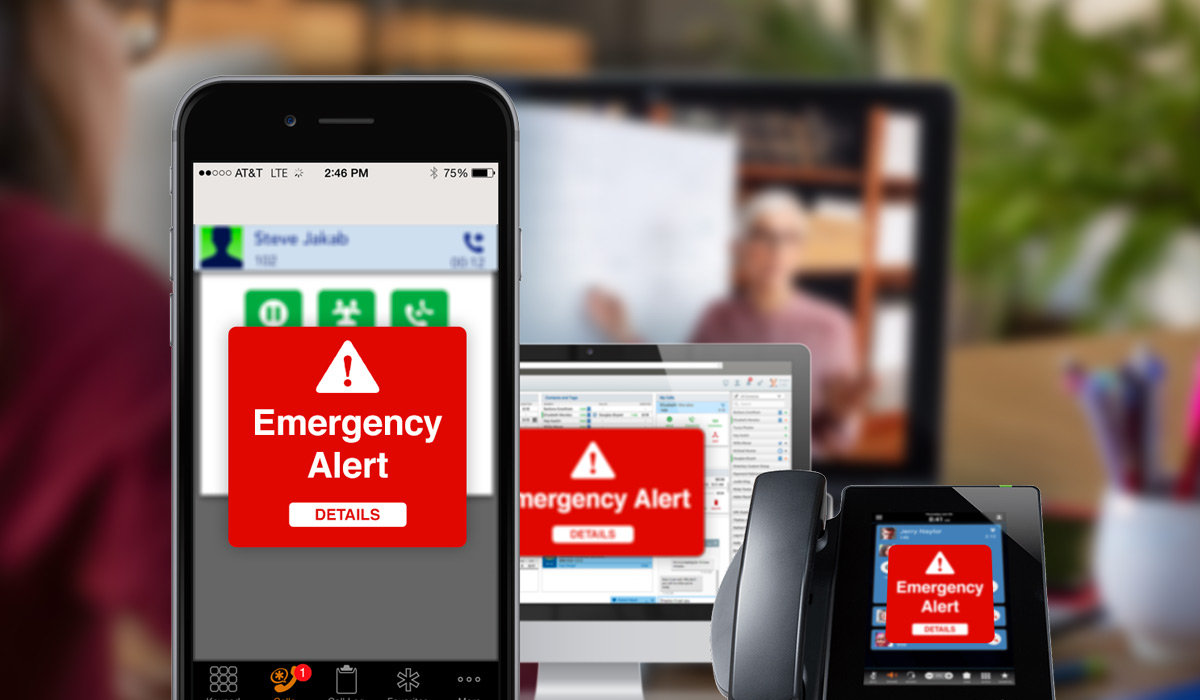 school emergency alert notification on multiple devices